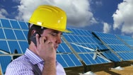 Young Engineer Cell Phone Energy Concept Stock Footage