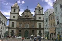 Salvador de Bahia, Brazil, Portuguese architecture, Church of Sao Francisco Stock Footage