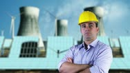 Young Engineer Serious Energy Concept Stock Footage