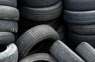 Stock Photo of old tires detail