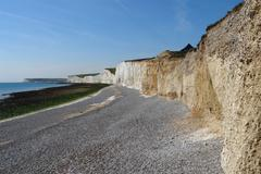 fels formation named seven sisters near newhaven - stock photo
