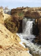 Wadi elrayan waterfalls Stock Photos