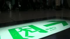 Exit sign at Tokyo train station (Shinagawa) Stock Footage