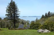 Ocean view from fort columbia wa.state. Stock Photos