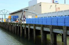 Fishing processing plant, Astoria OR. Stock Photos