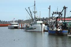 Fishing boats in astoria oregon. Stock Photos