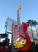 Giant electric guitar, universal studio ca. Stock Photos