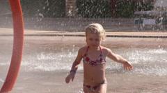 Child in Aquapark 3 - stock footage
