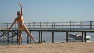 Girl Gymnastics Stock Footage