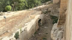 Ditch near fortress Stock Footage