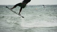 Stock Video Footage of Kiteboarding 4