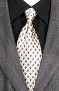 Dark wool jacket shirt and tie Stock Photos