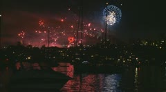 Flaming Lips on Sydney Harbour bridge, NYE Stock Footage