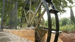 Big water wheel - stock footage