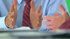 close-up of business hands on greenscreen - stock footage