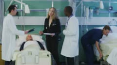 Group portrait of friendly and caring medical team Stock Footage
