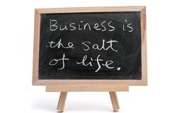 Stock Photo of business is the salt of life