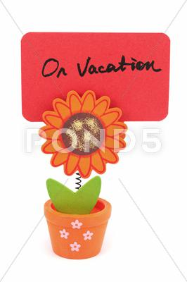 Stock photo of on vacation