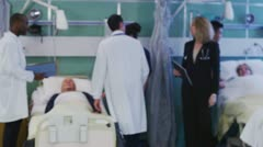 Group portrait of friendly and caring medical team - stock footage
