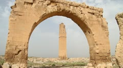 Arch and minaret - stock footage