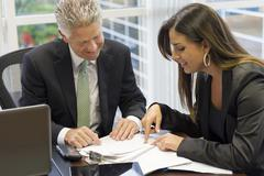 Business people working together in office Stock Photos