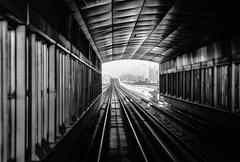 subway tracks in the united arab emirates - stock photo