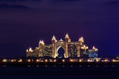 Stock Photo of night view atlantis hotel