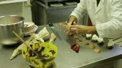 Pastry chef prepare meringue Stock Footage
