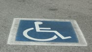 Handicapped Parking Stock Footage