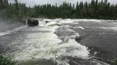 Waterfall in Sweden Stock Footage