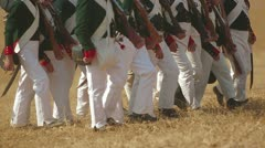 Battle reenactment Stock Footage