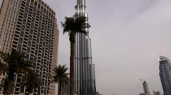 Dubai, Burj Khalifa - stock footage