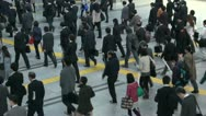 Stock Video Footage of Railway station rush hour in Tokyo, Japan