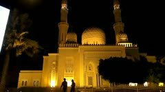 Dubai, Jumeirah mosque - stock footage