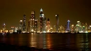 Stock Video Footage of Dubai, Dubai Marina, Timelapse, Skyline