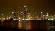 Stock Video Footage of Dubai, Dubai Marina, Timelapse, Skyline