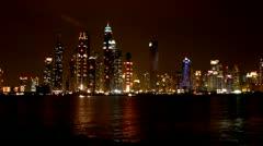 Dubai, Dubai Marina, Skyline Stock Footage