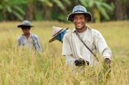 Stock Photo of happy thai farmer
