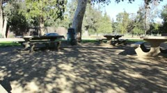 Picnic tables - stock footage