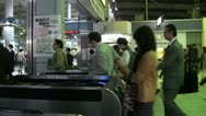Ticket gate at Tokyo railway station, commuting passengers in city Japan Stock Footage