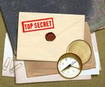 Top secret documents Stock Photos
