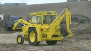 Digger in action 09 Stock Footage