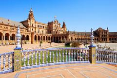 Stock Photo of plaza de espana seville, andalusia, spain, europe