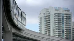 stock video footage monorail - stock footage