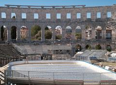 Ice in amphitheater Stock Photos