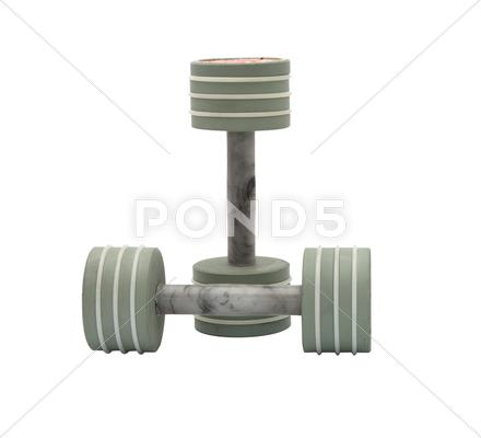 Stock photo of dumbbell.