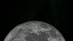 Approaching the Moon - stock footage