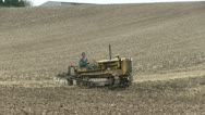 Earth moving tractor 04 Stock Footage