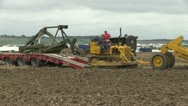 Earth moving tractor 09 Stock Footage