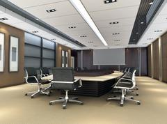 3d meeting room - stock illustration